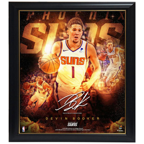 "Devin Booker Phoenix Suns Fanatics Authentic Framed 15"" x 17"" Stars of the Game Collage - Facsimile Signature Frame - 4584"