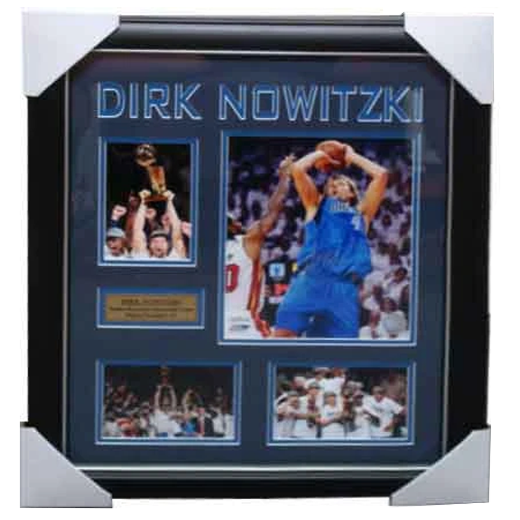 Dirk Nowitzki Dallas Mavericks Signed Photo Collage Framed - 3936