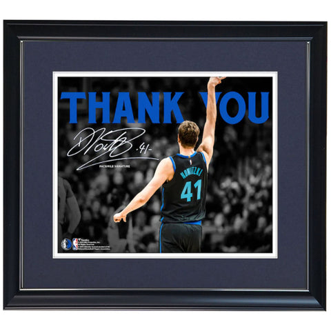 "Dirk Nowitzki Dallas Mavericks Fanatics Authentic Framed 11"" x 14"" Final Season Spotlight Photograph - Facsimile Signature Frame - 4586"