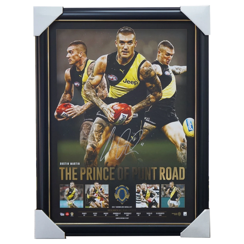 Dustin Martin Hand Signed Prince of Punt Road Richmond Print Framed Brownlow Medallist - 3471