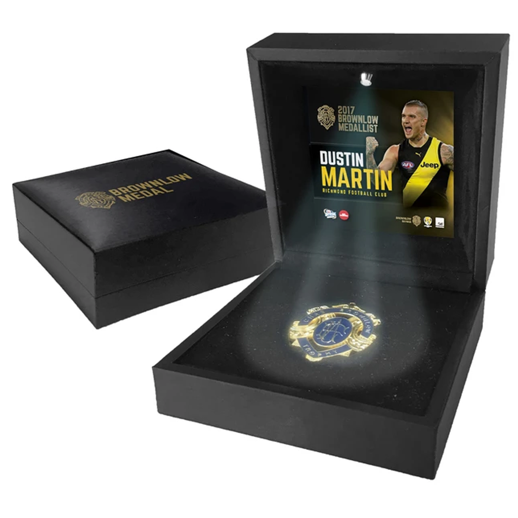 Dustin Martin Richmond 2017 Brownlow Medallist in Display LED Black Box - 3175