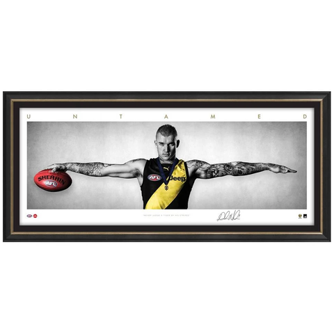 Dustin Martin Signed Richmond Mini Wings Official Afl Print Framed 2017 Brownlow - 3253