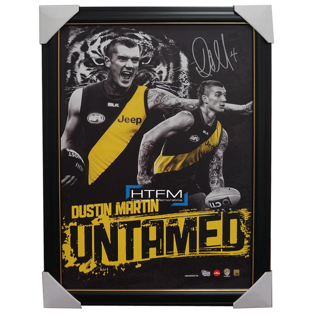 Dustin Martin Signed Richmond Untamed Official Afl Print Framed + Afl Coa New - 2512