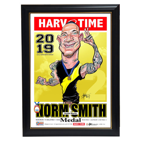 Dustin Martin Richmond 2019 Norm Smith Medal L/e Harv Time Print Framed Dusty - 3833