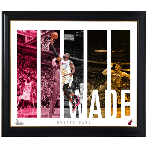 Dwyane Wade Miami Heat Player Panel Collage Official Nba Print Framed - 4420