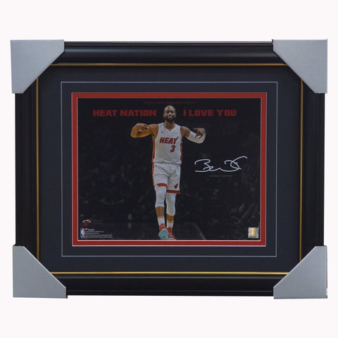 Dwyane Wade Miami Heat Facsimile Signed Official Nba Print Framed - 4422