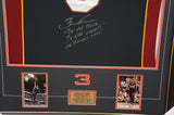 Dwyane Wade Miami Heat Signed Black Retirement Jersey Framed 3 x NBA Champion - 3681