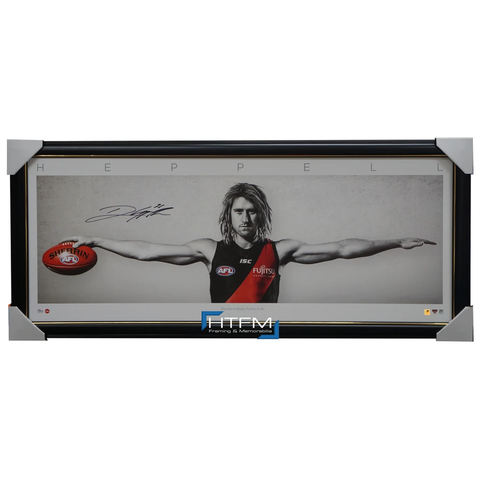 Dyson Heppell Signed Essendon Wings L/E Official AFL Print Framed IN STOCK - 3143