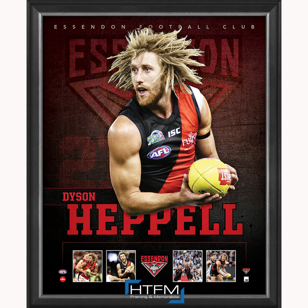 Dyson Heppell Captain of Essendon F.c. Official Licensed Afl Print Framed New - 3689