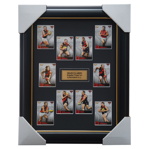 Essendon 2021 Select Team Card Set Framed Heppell Merrett Hurley - 4634