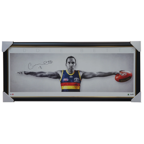 Eddie Betts Signed Official Afl Adelaide Crows Full Size Wings Print Framed - 3671