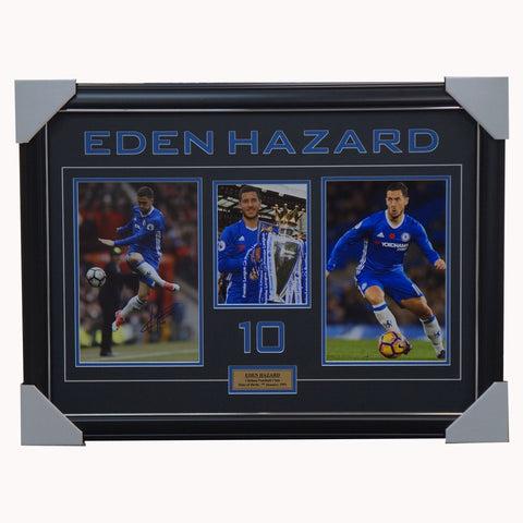 Eden Hazard Signed Chelsea Football Club Photo Collage Framed - 4528