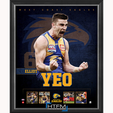 Elliot Yeo West Coast Eagles Football Club Official Licensed AFL Print Framed 2018 AFL Premiers - 3710