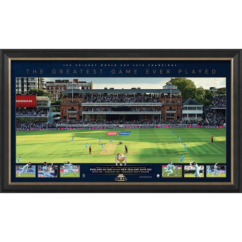 England ICC 2019 Cricket World Cup Champions Official Panoramic Print Framed - 4321