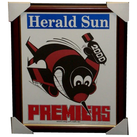 Essendon 2000 Premiership Original Weg Poster Framed - 2741