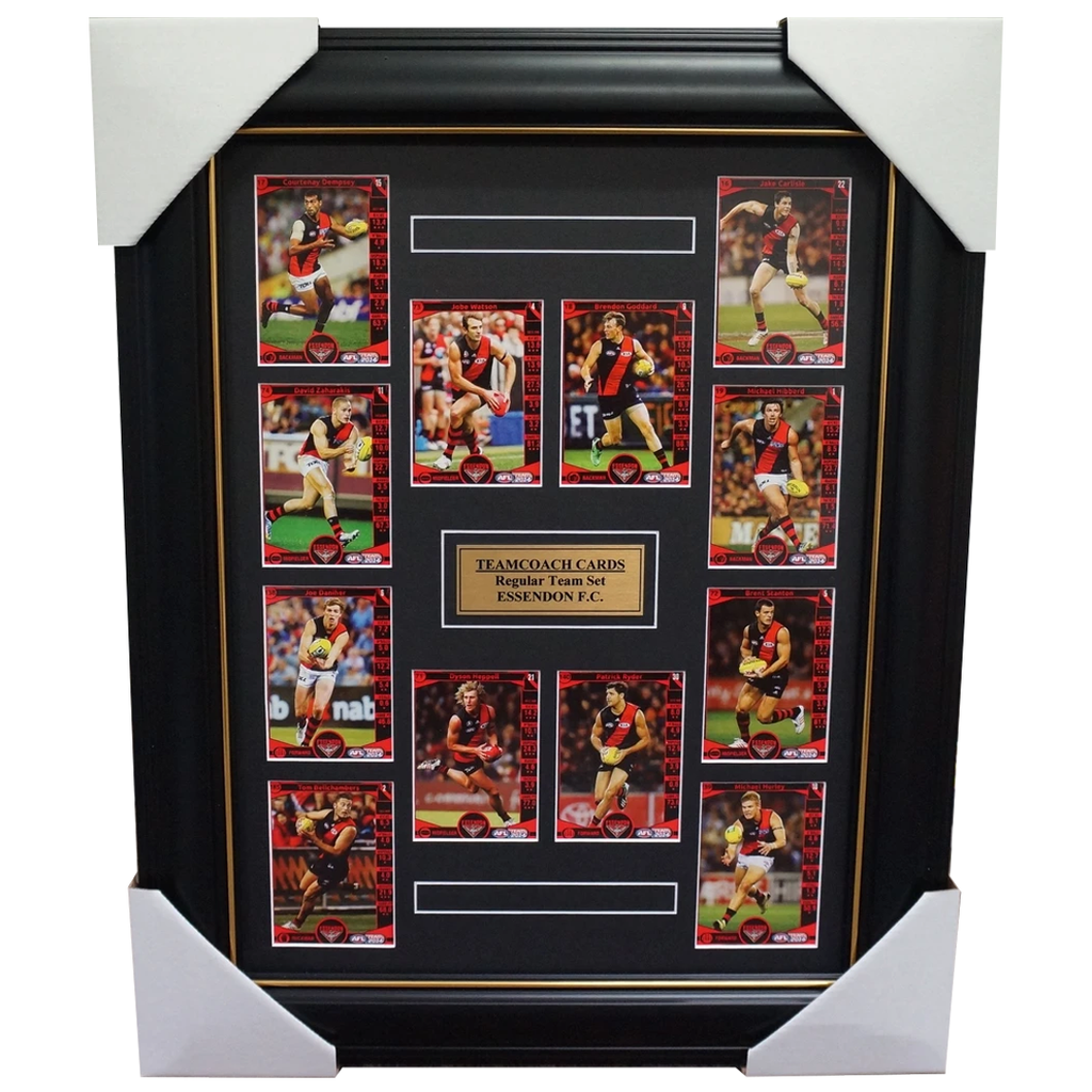 Essendon 2014 Limited Edition Teamcoach Cards Set Framed Watson Heppell Goddard - 1782