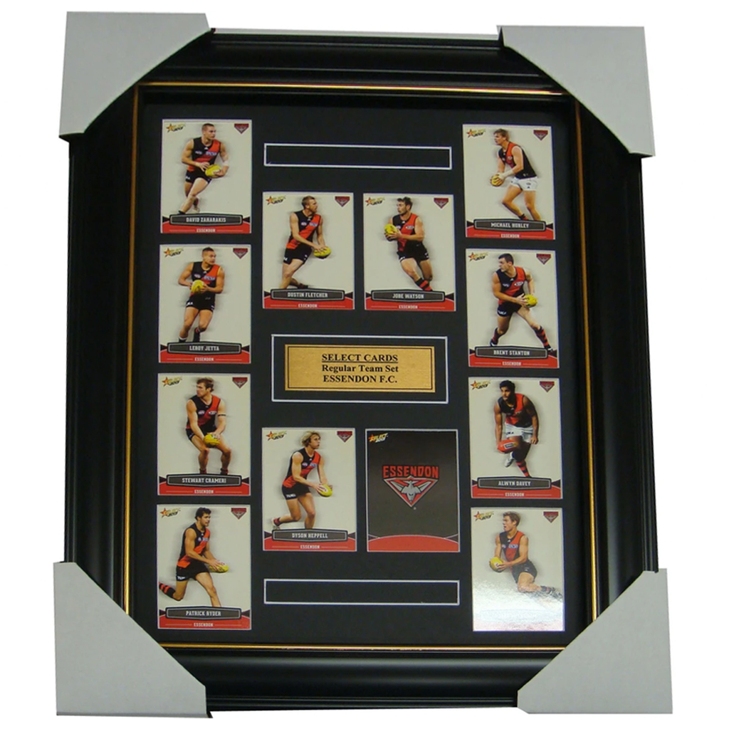 Essendon Bombers 2012 Select Cards Set Framed inc Jobe Watson - 1192