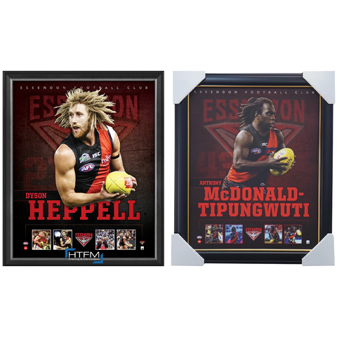 Essendon Package Official Licensed AFL Prints Framed Heppell Tipungwuti - 4447