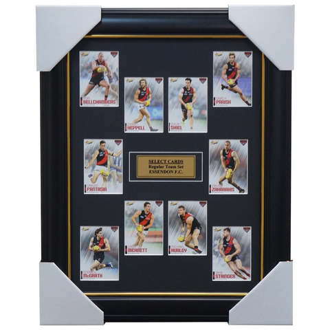 Essendon 2020 Select Team Card Set Framed Heppell Merrett Hurley - 3999