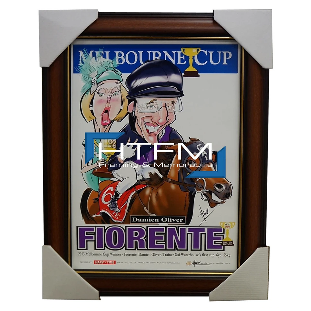 Fiorente 2013 Melbourne Cup Champion Harv Time Limited Edition Print Framed Oliver - 1829