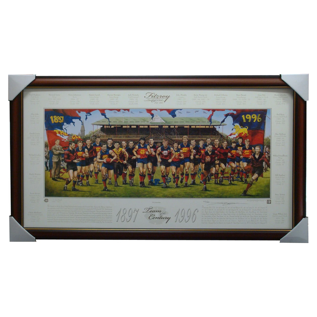 Fitzroy Team of the Century Jamie Cooper Limited Edition Print Framed - 1441