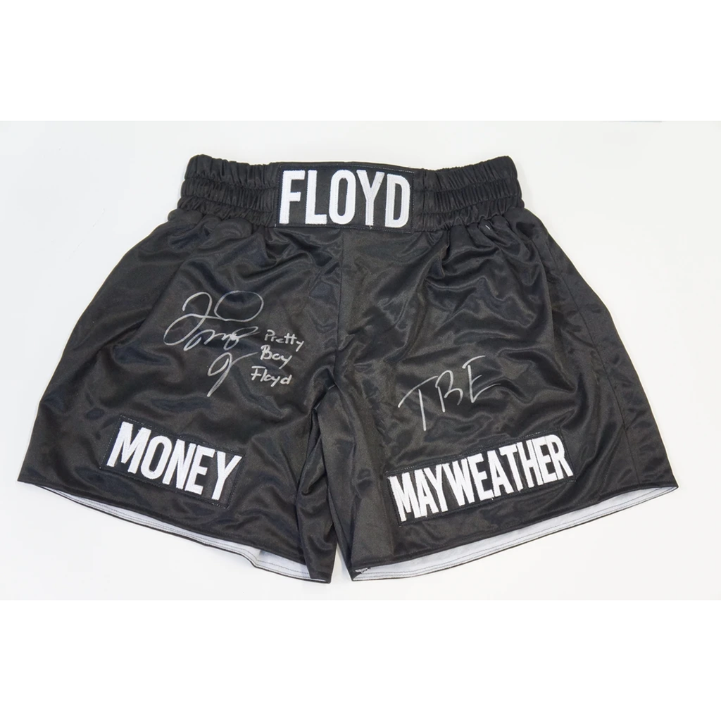 Floyd Maywather Signed Pretty Boy Floyd With Inscription Boxing Trunks + Coa - 3585