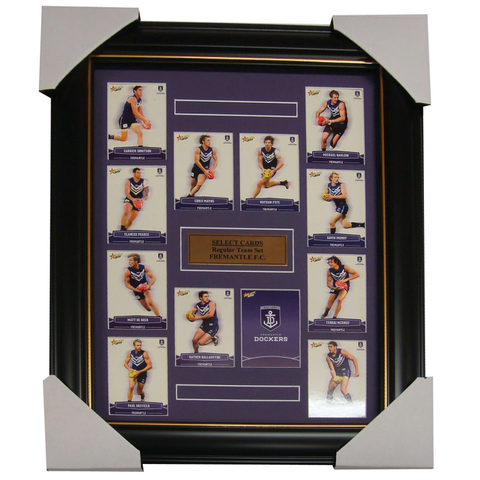 Fremantle Dockers 2013 Select Cards Set Framed inc Matthew Pavlich - 1193