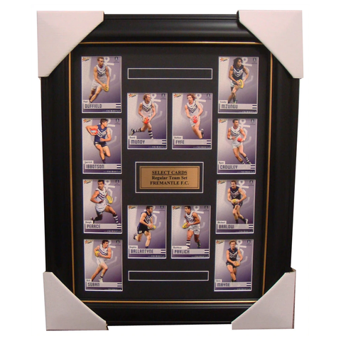 Fremantle Dockers 2014 Limited Edition Select Cards Set Framed Pavlich Fyfe - 1703