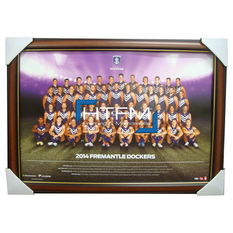 Fremantle Dockers 2014 Team Print Framed Afl Official Licensed Pavlich Fyfe - 1744