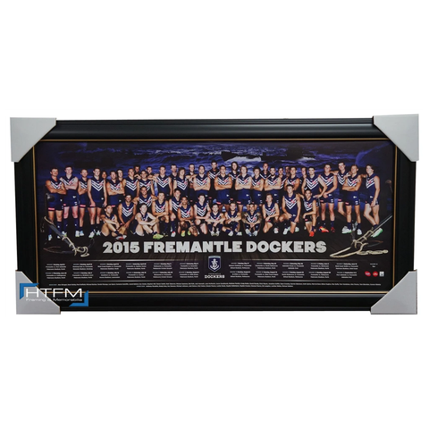 Fremantle Dockers 2015 Afl Team Print Framed Pavlich Ballantyne Fyfe - 1049