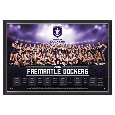 Fremantle Dockers 2016 Afl Team Print Framed Pavlich Ballantyne - 2718