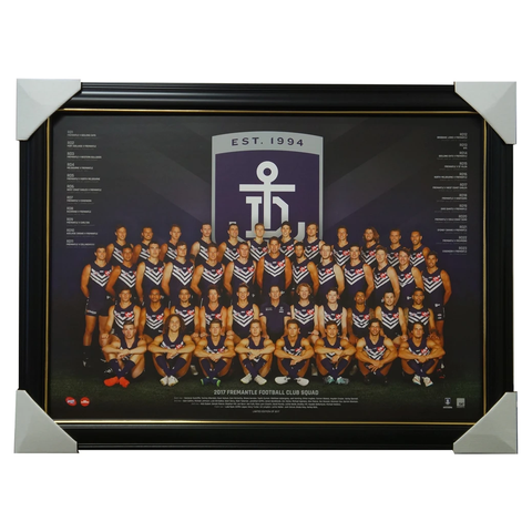 Fremantle Dockers 2017 Official Afl Team Print Framed Nat Fyfe Walters - 3024