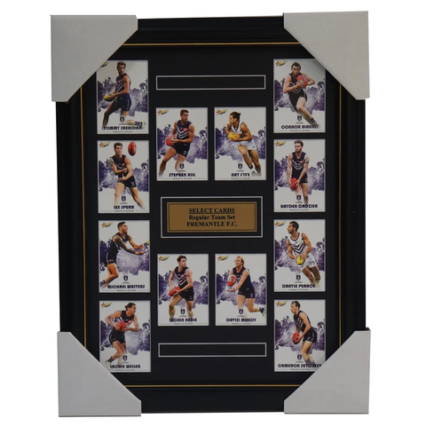 Fremantle Dockers 2017 Select Card Team Set Framed Nat Fyfe Michael Walters - 3047