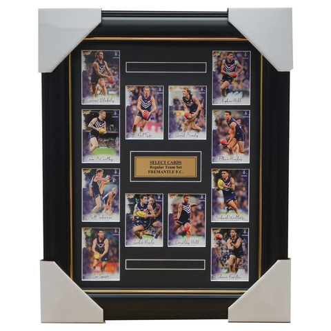 Fremantle Dockers 2018 Select Card Team Set Framed Nat Fyfe Michael Walters - 3358