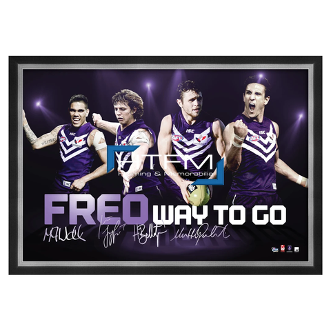 Fremantle Dockers Four Player Facsimile Afl Official Licensed Print Framed Pavlich - 1813