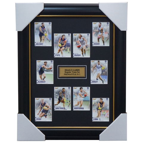 Fremantle Dockers 2020 Select Card Set Framed Nat Fyfe Mudy Walters - 4000
