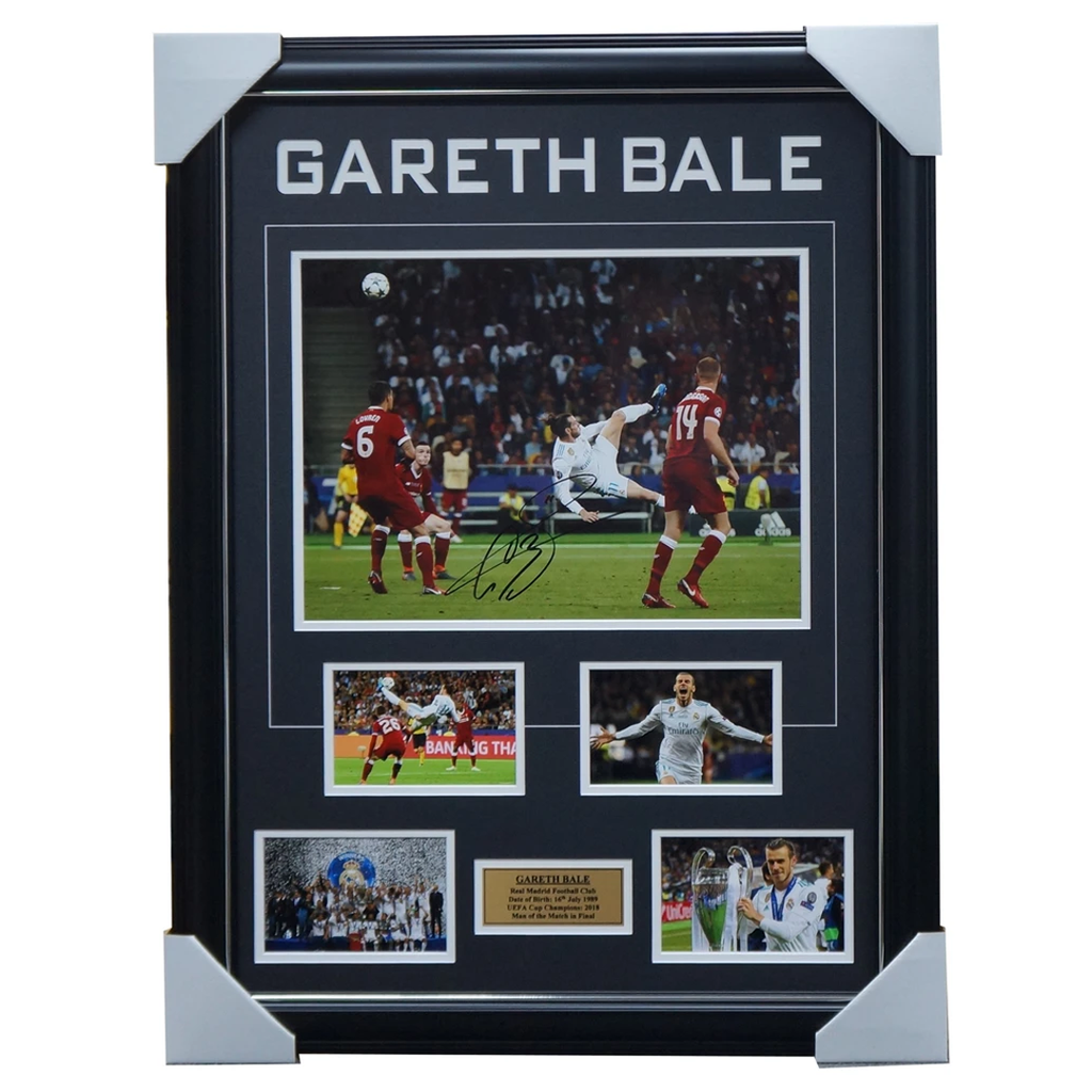 Gareth Bale Signed 2018 Champions League Real Madrid Collage Framed - 3452