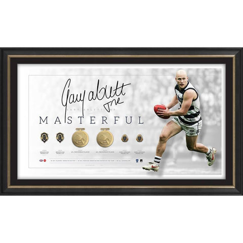 Gary Ablett Jnr. Signed Geelong Official Career Restrospective Print Framed - 4572