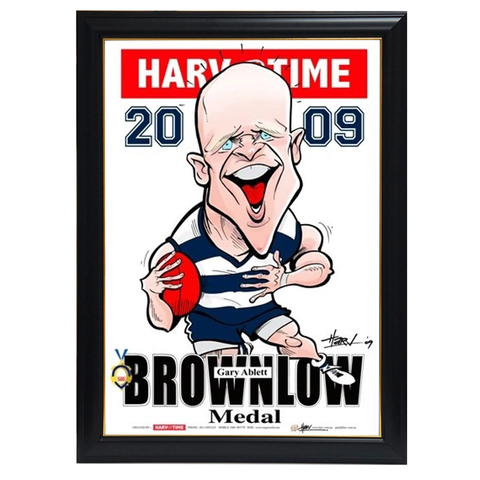 Gary Ablett, 2009 Brownlow Harv Time Print Framed - 4318