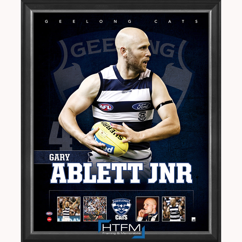 Gary Ablett Jnr. Geelong F.C. Official Licensed AFL Print Framed NEW - 3707