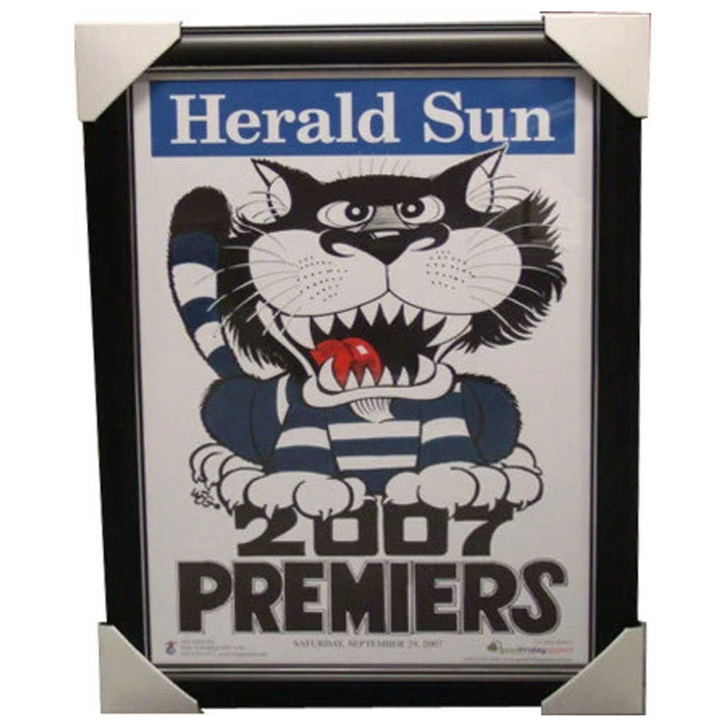 Geelong 2007 Premiership Original WEG Print Framed - 4062
