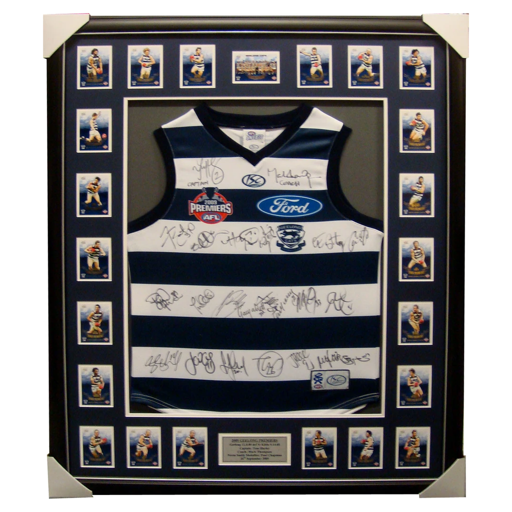 Geelong 2009 Limited Edition Premiers Jumper Signed Framed - 1159