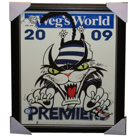 Geelong 2009 Premiers Limited Edition Wegs World Print Framed - 3858