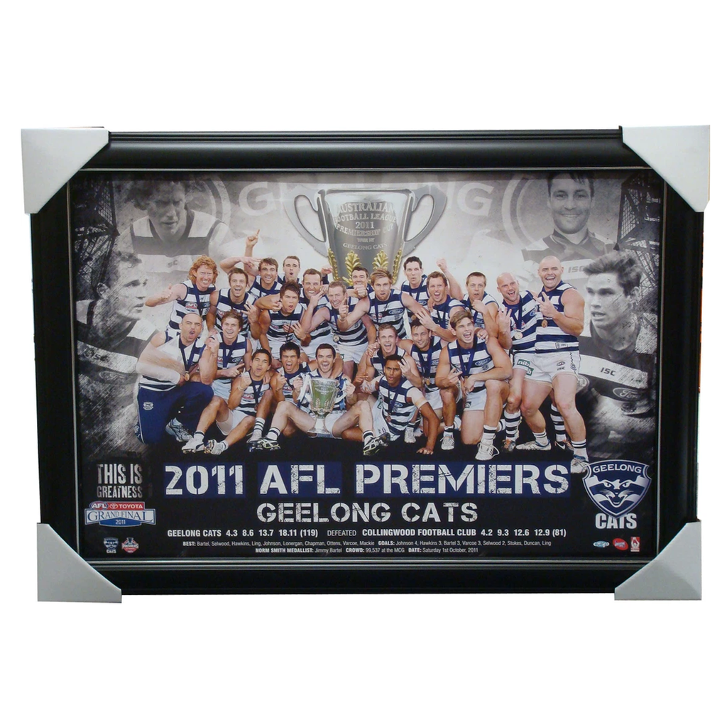Geelong 2011 Premiership Esp Afl Print Framed - 1444