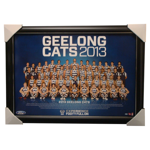 Geelong 2013 Official Afl Poster Framed Bartel Selwood Johnson - 1453
