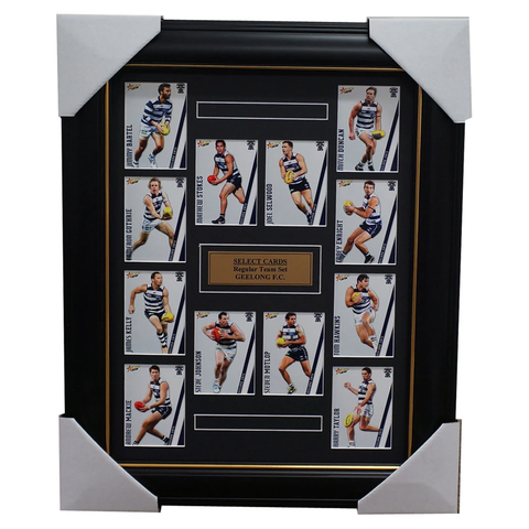Geelong 2015 Select Card Team Set Framed Selwood Bartel Johnson Kelly Hawkins - 1022