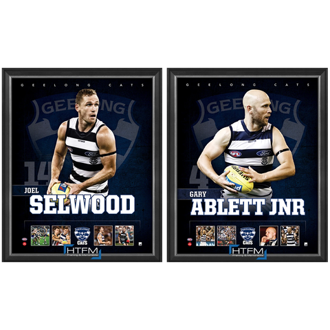 Geelong Package Official Licensed AFL Prints Framed Selwood Ablett Jnr. - 4448
