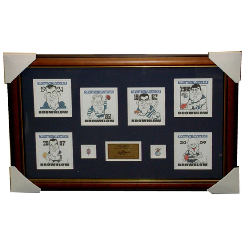 Geelong Brownlow Medallist Limited Edition Prints Framed - 2743