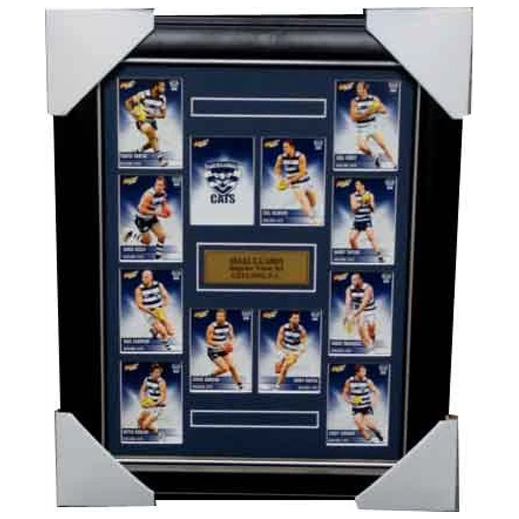 Geelong Cats 2012 Select Cards Set Framed - 3976
