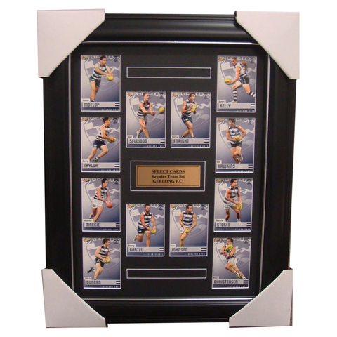 Geelong Cats 2014 Limited Edition Select Cards Set Framed - Selwood Bartel - 1707